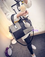 447fa5455f5d New Arrival. Free Shipping 2019 New Handbags Patchwork Diagonal Package  Leisure Fashion Handbags Hair Ball Ornaments Shoulder Bag