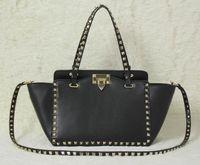 colori del sacchetto di spalla nuova borsa di modo borse moda Lady in pelle dorata rivetto Incontri Data sacchetto nero di piccola dimensione nero kaki Bianco Rosso