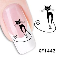 1Pc Cat Nail Art Sticker Decal Water Transfer Fingernail Dec...