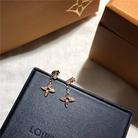 L earrings luxury famouse designer jewelry four leaf cloVer ...