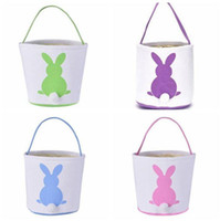 Easter Bunny Basket Rabbit Tail Ears Barrel Bags Kids Candy Baskets Party Festival Candies Easter Eggs Storage Totes Cartoon Handbags YP7152