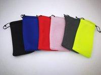Étui à lunettes anti-poussière souple à carreaux imperméable en maille de lunettes de soleil sac à lunettes pochette 100pcs / lot livraison gratuite