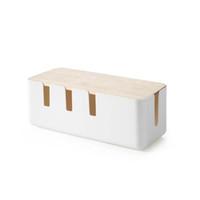 Pudełka do przechowywania gniazdka moda dąb pasek kablowy Menedżer kabli ciepła z otworem emisji pyłoszczelnej Gniazdo bezpieczeństwa