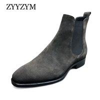 Сапоги Zyyzym Мужчины Весна осень замшевые Высокая помощь Классический стиль моды повседневные туфли Botas Hombre большой размер39-48