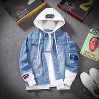 E-baihui hommes Veste en jean Streetwear Hip Hop Hooded Jean Jackets Casual Male vrac vêtement 2020 Nouveau Mode printemps Slim Fit Manteau