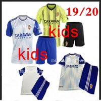 19 20 boy kit Real Zaragoza SOCCER Jerseys home away child S...