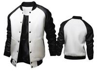 Kış Erkek Baseballl Coats Uzun Kollu Spor Kasetli Deri Tek Breasted Erkek Dış Giyim Erkek ceketler