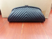LADY Half Moon Genuine Leather Evening Bags Classic Clutch p...