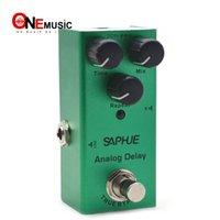 SAPHUE Chitarra elettrica analogica Ritardo / Mix / Repeat pedale manopola Effect Mini tipo singolo DC 9V True Bypass