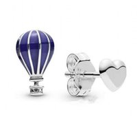 New Original 925 Sterling Silver Earring Pan Air Balloon & H...