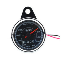 Motorcycle Speedometer Meter Double Color LED Light Odometer speed meter gauge Miles For Motorcycle hot selling Free Shipping