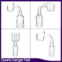 100% Real Quartz Banger Nails 4mm Grosso Clube Banger Domeless Quartz Prega 10mm 14mm 18mm Masculino Feminino Frete Grátis