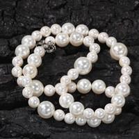 Collar de perlas para mujer para hombre Hip Hop Joyería de alta calidad 6mm 8mm 10 mm Collares con cuentas mixtas