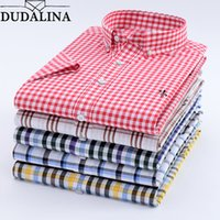 Dudalina Camisa Male Shirt Short Sleeve Men Shirt 100% Cotto...