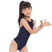 Rennkinder Einteilige Badeanzüge Kinder Mädchen Swimwear Sports Baby Bathing Anzüge Bather für Training Bodybuilding Wettbewerb