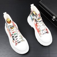 Italy High Quality High Top Studded Sneakers Shoes Men Luxur...