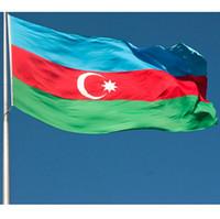 Aserbaidschan-Flagge 90x150cm 3x5 ft AZE Die Republik Aserbaidschan Nationale Landesflagge Banner Jede Art-Qualitäts-Polyester-Druck