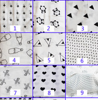 Hot Newborn 100% algodón Manta de algodón Toallas de baño infantil Dibujos animados Animal Muslin Manta Swaddle Toddler Manta 120 * 120cm 47 Estilo