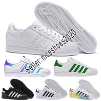 Adidas 2019 Adidas Men Women shoes blanco Iridiscente Junior Superstars 80s Pride Womens Hombre Entrenadores Superstar zapatos casuales Tamaño 36-45