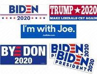 Joe Buden Lettersステッカー大統領2020バンパーステッカードナルドトランプカーステッカーPVCデカールアメリカキャンペーンパターンシューワーD62903