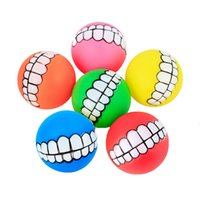 Diameter 7cm Colorful Ball Dog Toy Soft Rubber Puppy Toys Do...