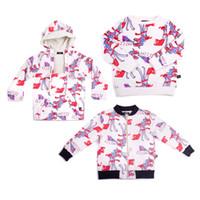 BOBOZONE 2018 Yeni Sonbahar Kış Dinozor Baskı Kazak Ceket Ceket için çocuk erkek kız çocuk giyim bobo choses
