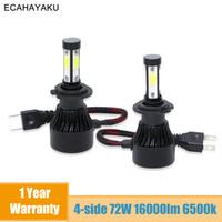 ECAHAYAKU 2 PZ H4 LED H7 H11 9004 9007 H13 9005 9006 9012 Auto X7 Series Auto Bulbs Auto 100W 10000LM Lampada a testa automatica