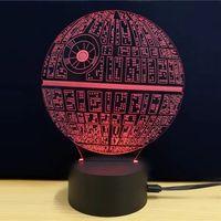 LED 3D الاكريليك المحيطة مصباح ليلة الخفيفة