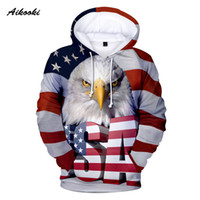 Aikooki Usa Flag 3d Hoodies Sweatshirt Men women Hooded 3d P...