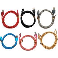 Tissu tressé cordon de type C câbles de type C micro 5pin OD5.0 Nylon USB Data Câble de chargeur pour Samsung S4 S7 S7 Edge HTC LG Sony