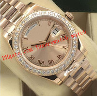 Hot Vendas 14 Estilo Relógio de luxo Prata Diamante Bezel Assista 41 milímetros 118348 Roman Dial 2.813 homens automática Moda Relógios de pulso