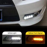 2Pcs 12V LED DRL diurne caso la luce per Mitsubishi Lancer EX 2009 2010 2011 2012 2013 2014 fendinebbia