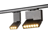 10 قطع عالية الجودة 6 واط 12 واط قابل للتعديل أدى أضواء المسار الصمام مصابيح السكك الحديدية AC85-265V راحة مصابيح السقف لمحلات المتاحف المنزلية