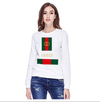 Fashion brand sweatshirt couple flag print small round neck ...
