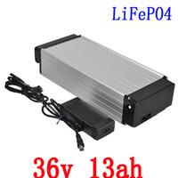 36v 36v 13Ah 36v 13Ah batteria al litio bicicletta elettrica della batteria 13Ah batteria LiFePO4 con 43.8V 2A caricabatteria di trasporto