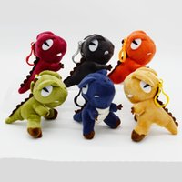4 Inch Stuffed Dinosaur Backpack Pendant 6 Colors Plush Tyra...