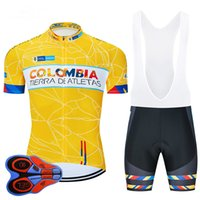 2020 Colombia Yellow cycling Jersey breathable cycling jerse...