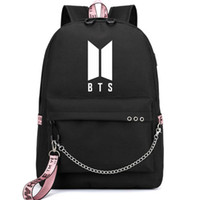 KPOP BTS فتيان بانقتان مدرسة حقائب الظهر حقيبة السفر مع USB للطفولة عيد الحب هدايا عيد