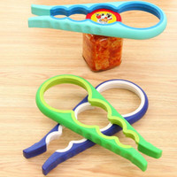 4 in 1 Handliche Anti-Rutsch-Dosendeckel Screw Opener Flaschenöffner für Pop / Bierflasche Jar Küche Twist Tool Bottle Cap Launcher