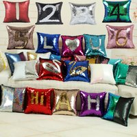 39 colors Mermaid Sequin pillow covers Reversible Sequin Thr...