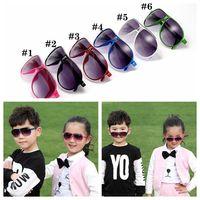 Crianças óculos de sol 6 cores full frame óculos de sol óculos de esportes ao ar livre uv400 óculos verão óculos de praia ao ar livre moda ljo6930