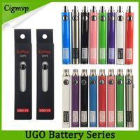 Autentico EVOD Ugo 650mAh 900mAh Ego 510 Batteria 8Colors Micro Brough Rough USB Pass PASSALE PASSALE PENNA E-CIG PEN PENNA VAPE BATTERIE VS VISION SPINNER LAW