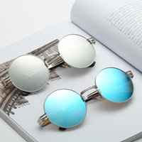 Men women Dazzling Round frame Sunglasses coloful Frame Shad...