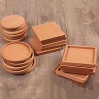 새로운 나무 컵 받침 나무 나무 열 절연 패드 차 컵 패드 절연 마시는 매트 주전자 테이블 매트 컵 홀더 T2I5297