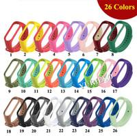 Pour 200PCS Xiaomi Mi Band 3/4 Bracelet Bracelet en silicone coloré Barcelet Pour Miband 4 remplacement intelligent Band Accessoires pour Mi Band Hot vente