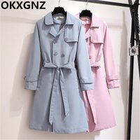 2019 Autumn Women Trench Coats Fashion Double- breasted Elega...
