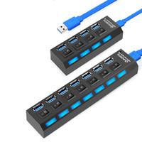 Hub USB 3.0 4/7 puertos USB 3.0 HUB Micro adaptador del divisor de potencia con alta velocidad de 5Gbps Splitter USB HUB 3 para PC
