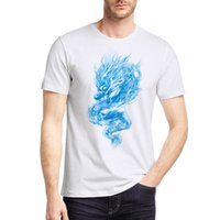 Mens Dragon Printed T Shirts Short Sleeve T- Shirt Fashion St...