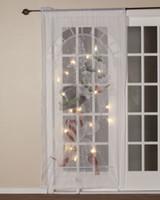 40 * 48 Zoll Weihnachts Vorhänge Weihnachtsmann Druck Reindeer Printed Spitze Vorhänge für Wohnzimmer Schlafzimmer Kinder Vorhang Heimtextilien