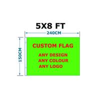 5x8ft Individuelle Flags 150x240cm für Festival-Feiertag Ereignis Verbrauch Polyester Alle Desisn Ang Logo von China Flaggen Lieferant